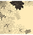 stylish floral beige background vector image vector image