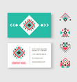 tribal logo business card vector image vector image