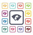 ultrasound flat icons set vector image vector image