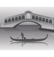 venetian gondola silhouette vector image vector image