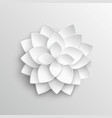 white paper 3d lotus flower in origami style vector image vector image