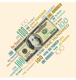 100 Typography Money vector image vector image