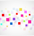 abstract background with colorful squares vector image vector image