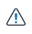 alert warning icon vector image vector image