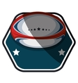 American football ball emblem vector image