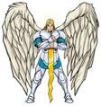 archangel michael standing vector image vector image