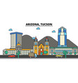 arizona tucsoncity skyline architecture vector image vector image