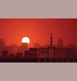 baghdad low sun skyline scene