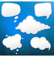 Blue Grunge Texture With Speech Bubble vector image vector image