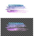 blue pink paint brush smear stroke vector image