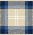 blue tartan plaid seamless pattern vector image vector image