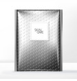 Bubble wrap mailer bag packaging silver