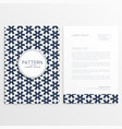 business letterhead template in abstract shape vector image vector image