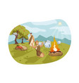 cain and abel bible concept vector image vector image