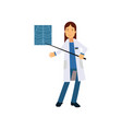 cartoon woman doctor in hospital standing and vector image vector image