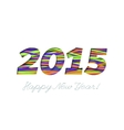 Creative greeting card design for New Year 2015 vector image vector image