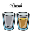 Drink design vector image vector image