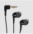 earphone and plug black l vector image