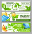 eco green energy saving banner set design vector image vector image