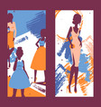fashion banner silhouettes of vector image vector image