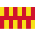 Flag of Northumberland vector image vector image