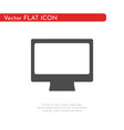 flat icon computer pc for web business finance vector image