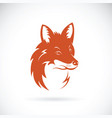 fox head on white background wild animals vector image vector image
