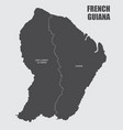 french guiana regions map vector image vector image