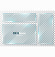 glass frames collection realistic transparent vector image vector image