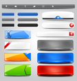 glossy web collection vector image vector image