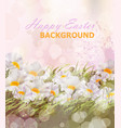 happy easter background realistic vector image vector image