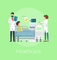 healthcare poster with title vector image