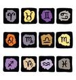 Horoscope Zodiac Star signs set vector image vector image