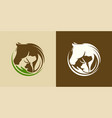 horse dog cat animal logo template