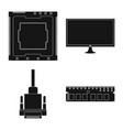 internet and electronics vector image vector image