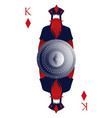 king of diamonds with crown holding a shield with vector image vector image