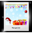 Photo from the New Years background vector image vector image