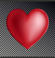 red gradient heart isolated on transparent backgro vector image vector image