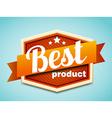 retro badge eps 10 Premium Quality labels vector image vector image