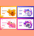 set of website templates landing page vector image