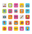 sports and games flat icons set 3 vector image vector image