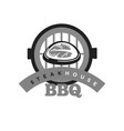 steak house bbq monochrome emblem for meat vector image