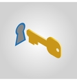 The key and keyhole icon Open unblock unlock vector image