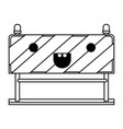 traffic barrier flat icon monochrome kawaii vector image vector image