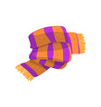 twisted striped scarf in orange and purple colors vector image vector image