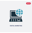 two color digital marketing icon from social vector image vector image