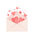 valentines envelope with hearts love symbol vector image