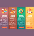 vertical banners set of foreign language schools vector image vector image