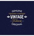 Vintage Fashion Labels on Dark Blue Background vector image