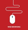 Web browsing concept vector image vector image